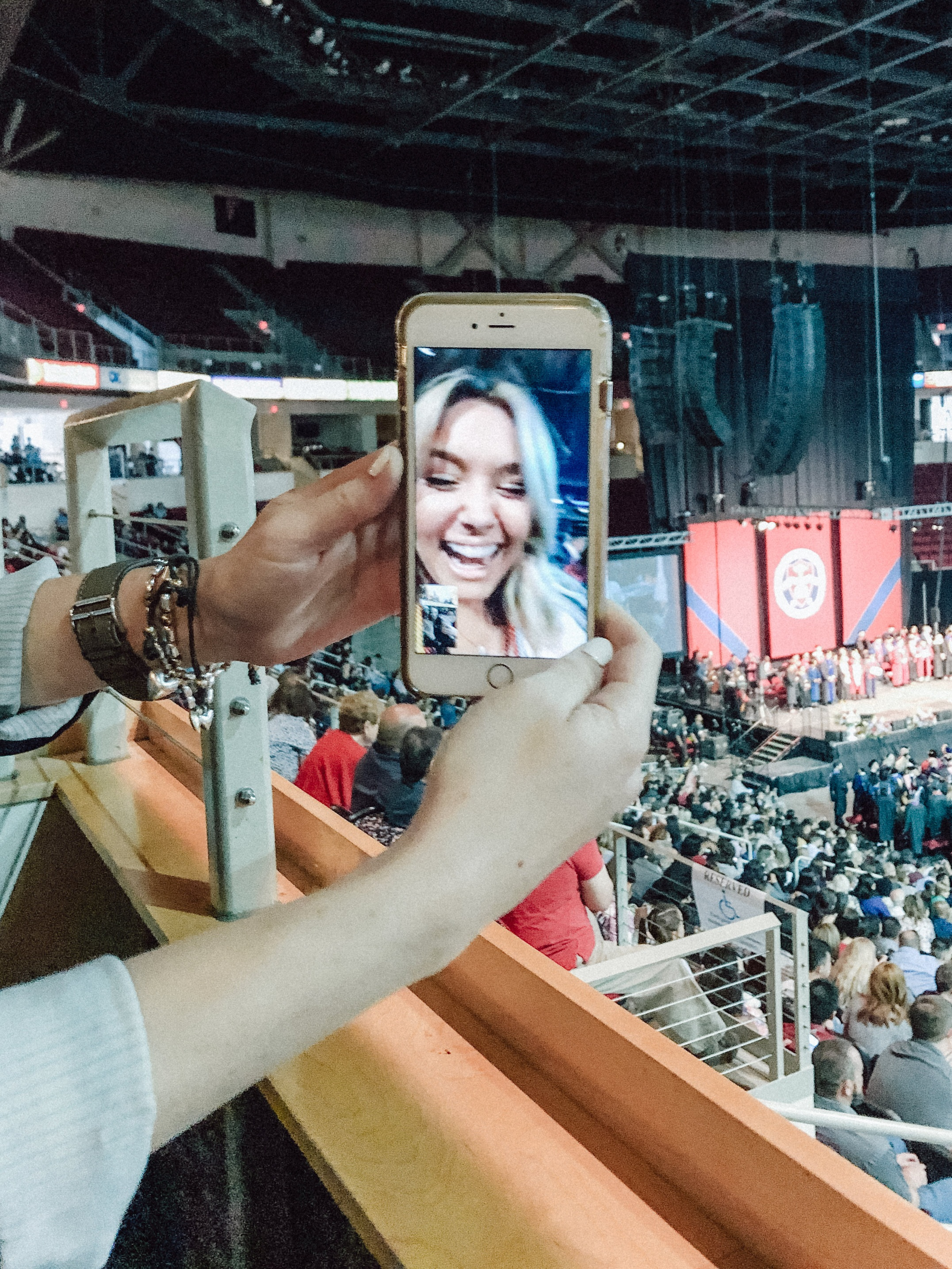 I FaceTimed Rae and the team right before I walked across the stage at my graduation - can you tell I was excited?