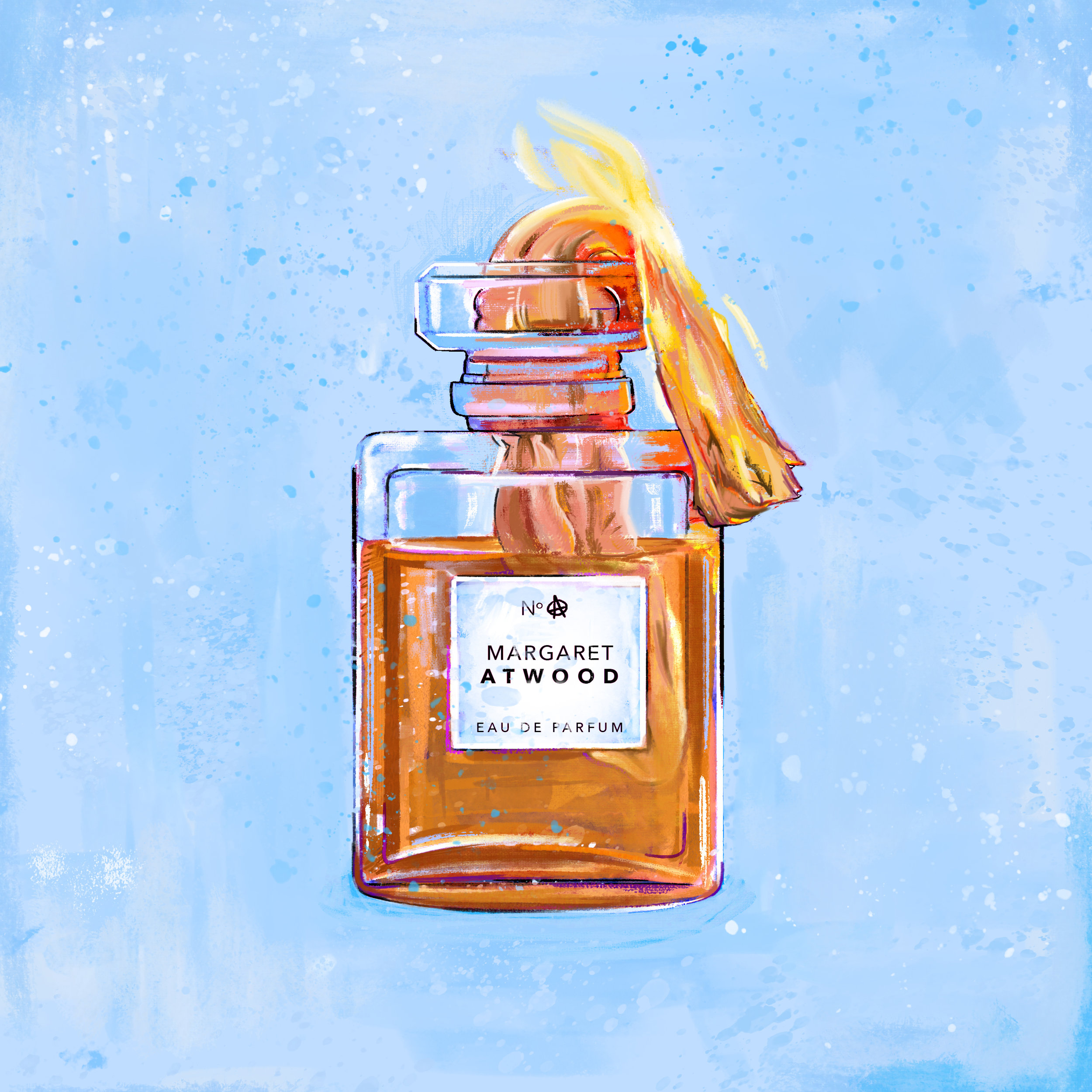 "Time  described Margaret Atwood's novels as, ""the kick of a perfume bottle converted into a Molotov cocktail,"" a fantastic image."