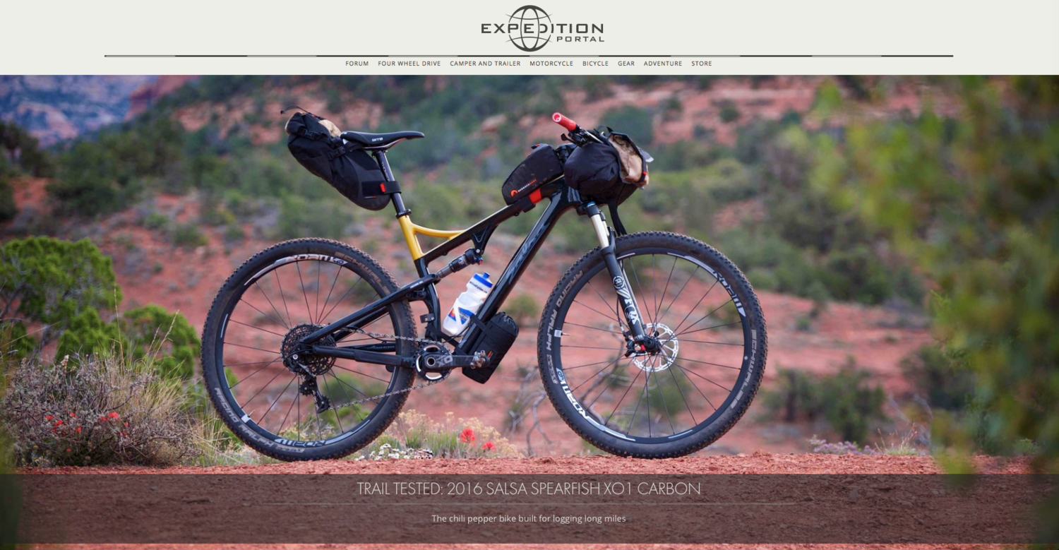 Expedition Portal  gives Bedrock some photo love while reviewing Salsa's Spearfish XO1