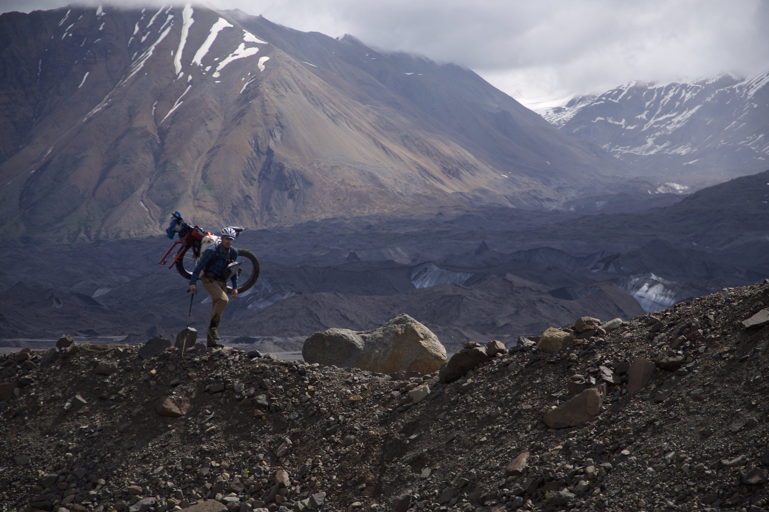 "Bedrock Ambassador Brett Davis gives a whole new meaning to ""bikepacking"". Photo: Mike Curiak"