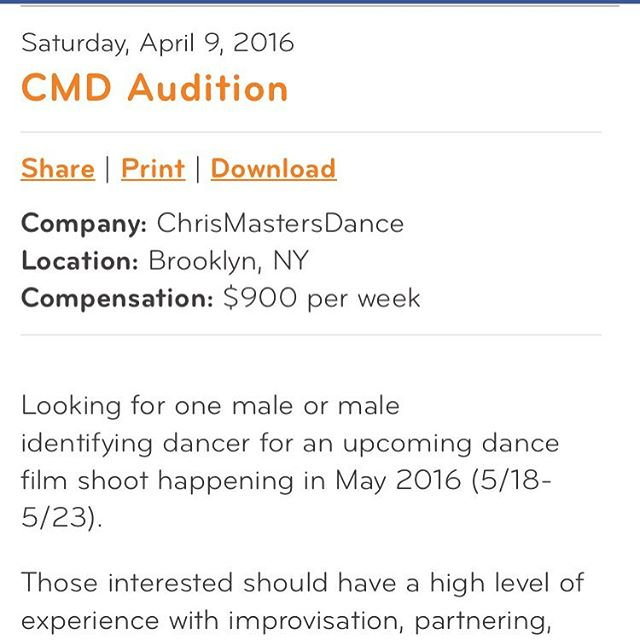 See more at dancenyc.org!! Need another male or male identifying body for a film shoot!