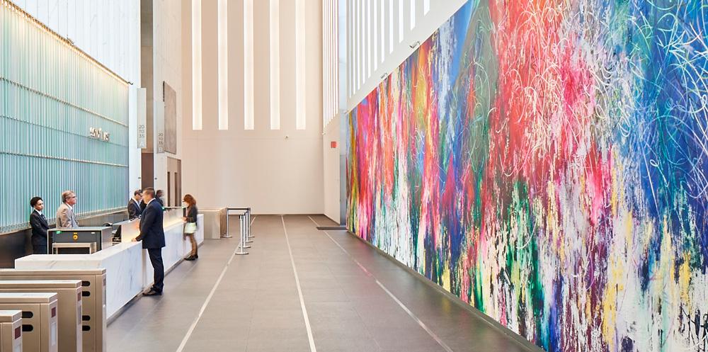 One World Trade Center, South Lobby Entrance Artist, Jose Parla, Union of the Senses 10 x 90 ft
