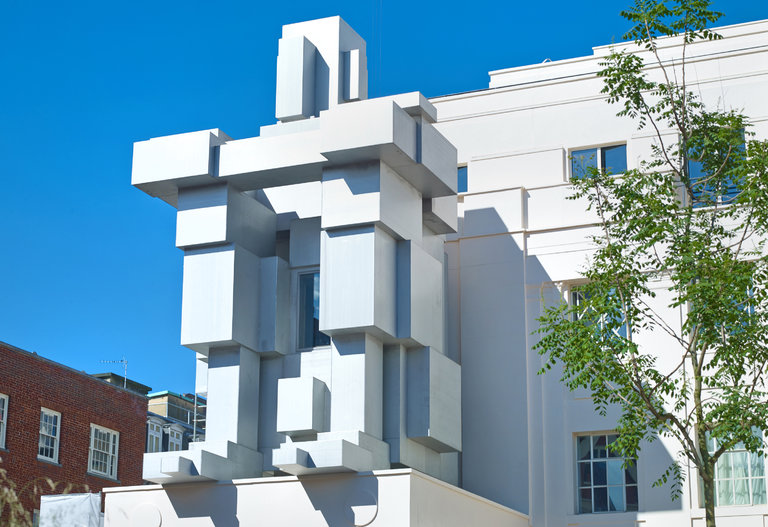 The Beaumont in London features Antony Gormley's ROOM, a sculpture in the shape of a crouching man, which doubles as a suite.    Credit: Beaumont Hotel