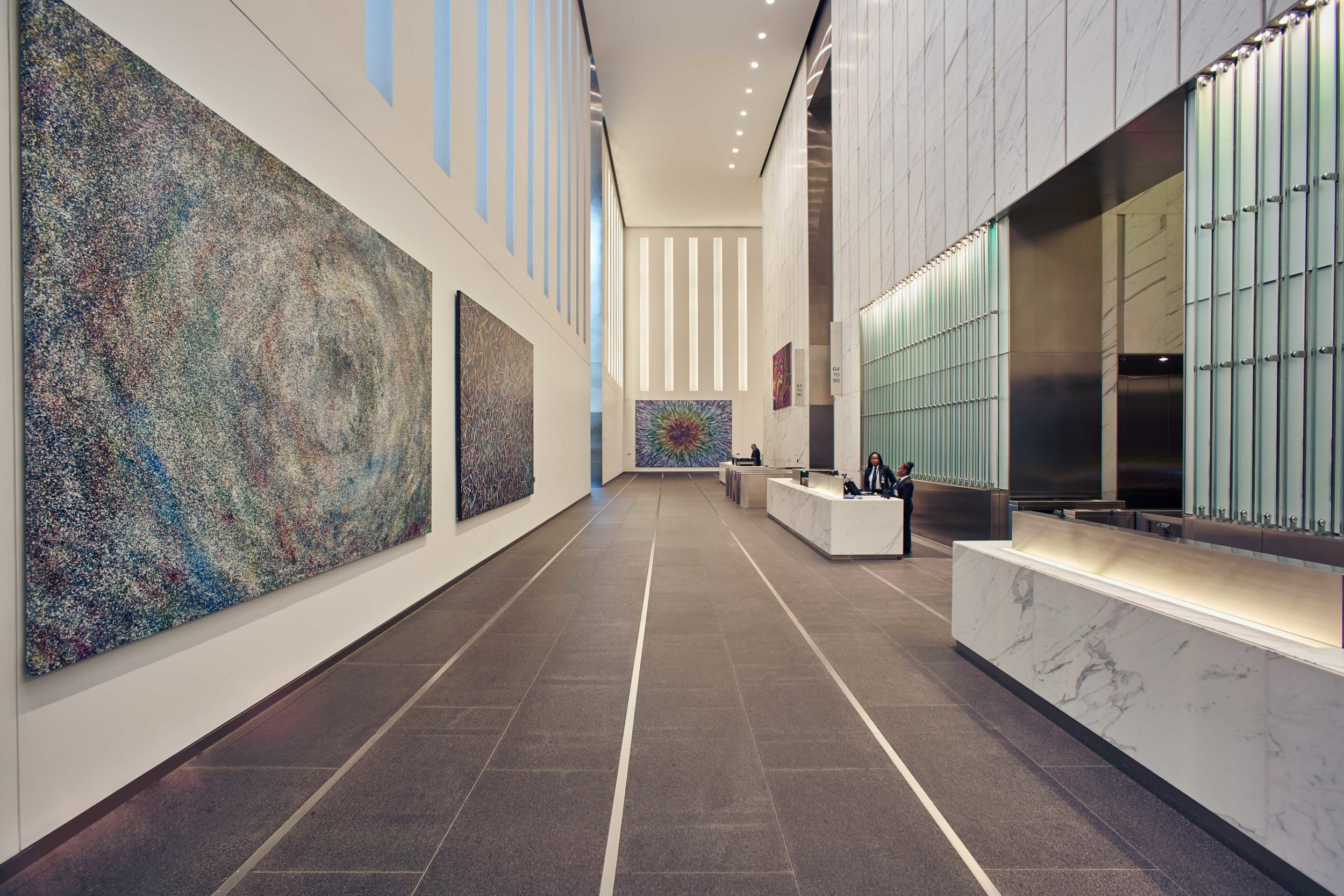 One World Trade Center, North Lobby, Paintings by Doug Argue