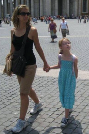 My mom and me in Rome
