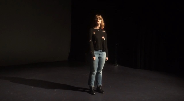 Me during a monologue performance earlier this week :-)