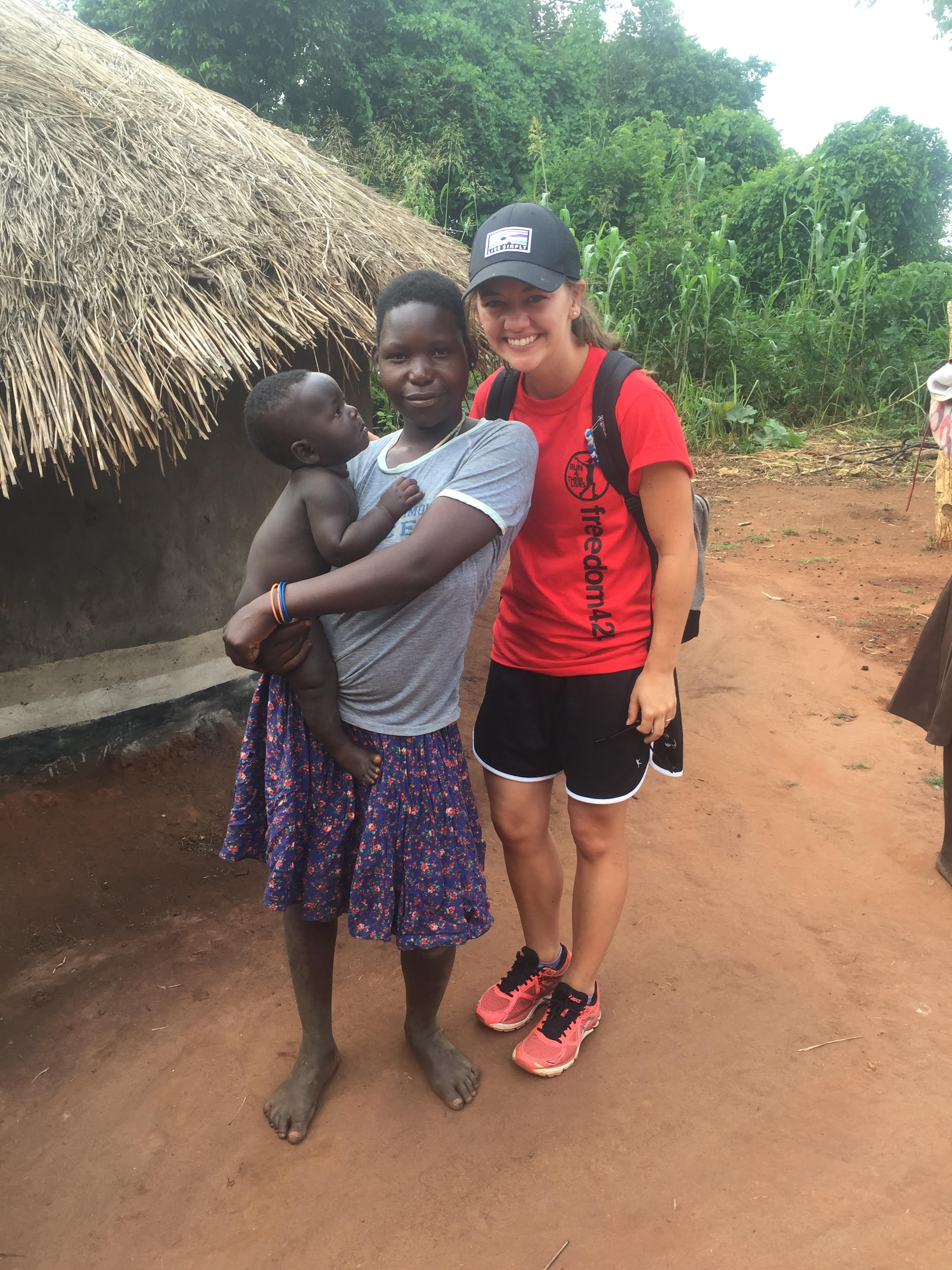 Jaclyn Swyers (right), has dreamed of working with human trafficking survivors in Africa since she was 15.