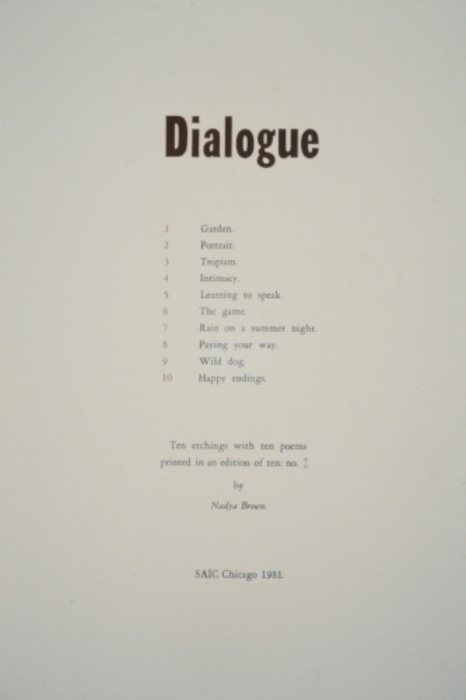 Title Page for Dialogue