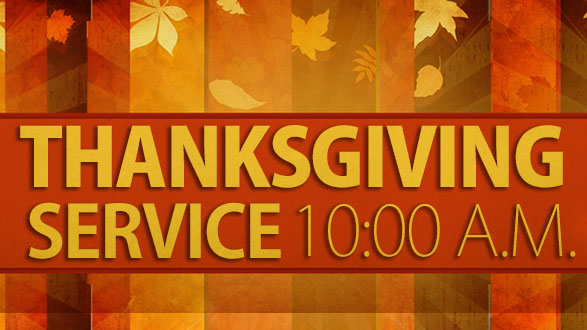 Start off your celebration from a pasture of thankfulness & praise!