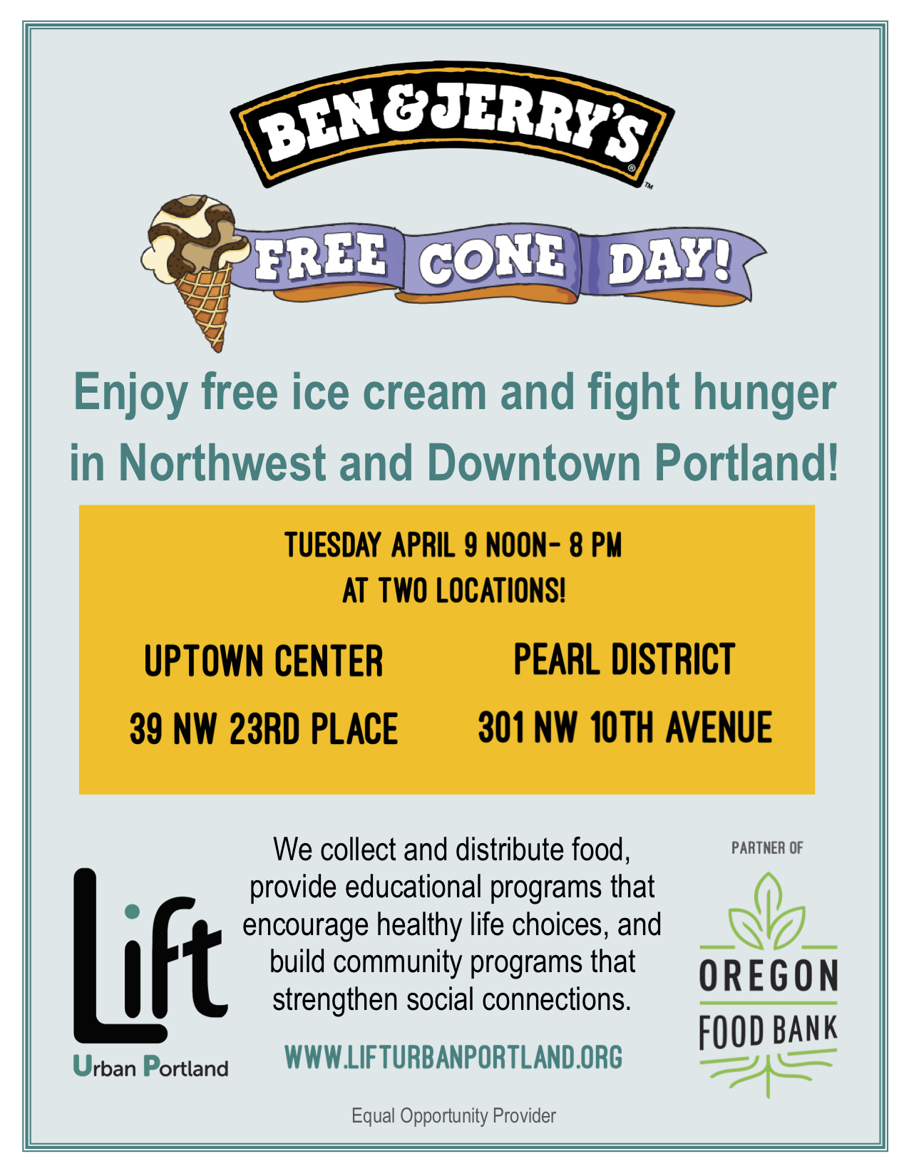 Ben and Jerry's Free Cone Day Flyer 2019 Both Locations.jpg