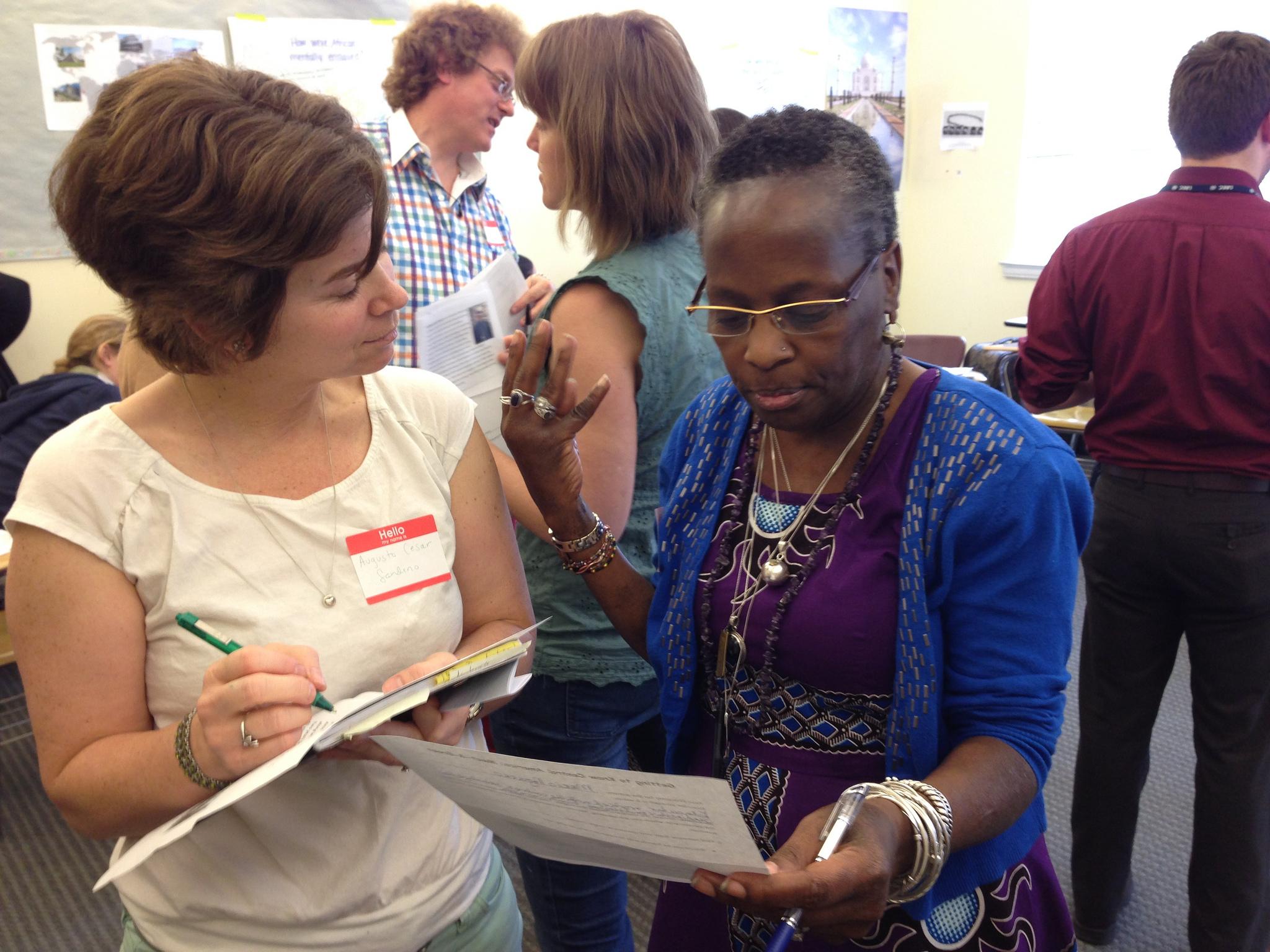 D.C. public school teachers engaged in the lesson.
