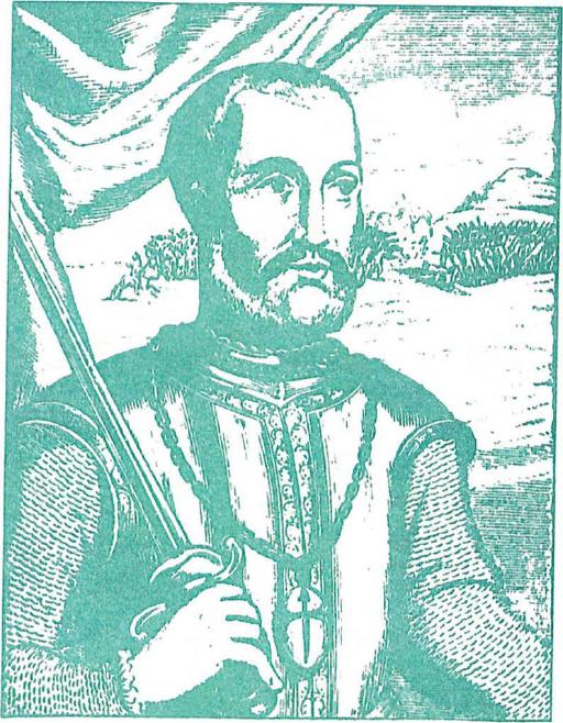 Don Pedro de Alvarado, Conquistadore de El Salvador (Tomollo do Horrero, Decadas , Madrid, 1601)