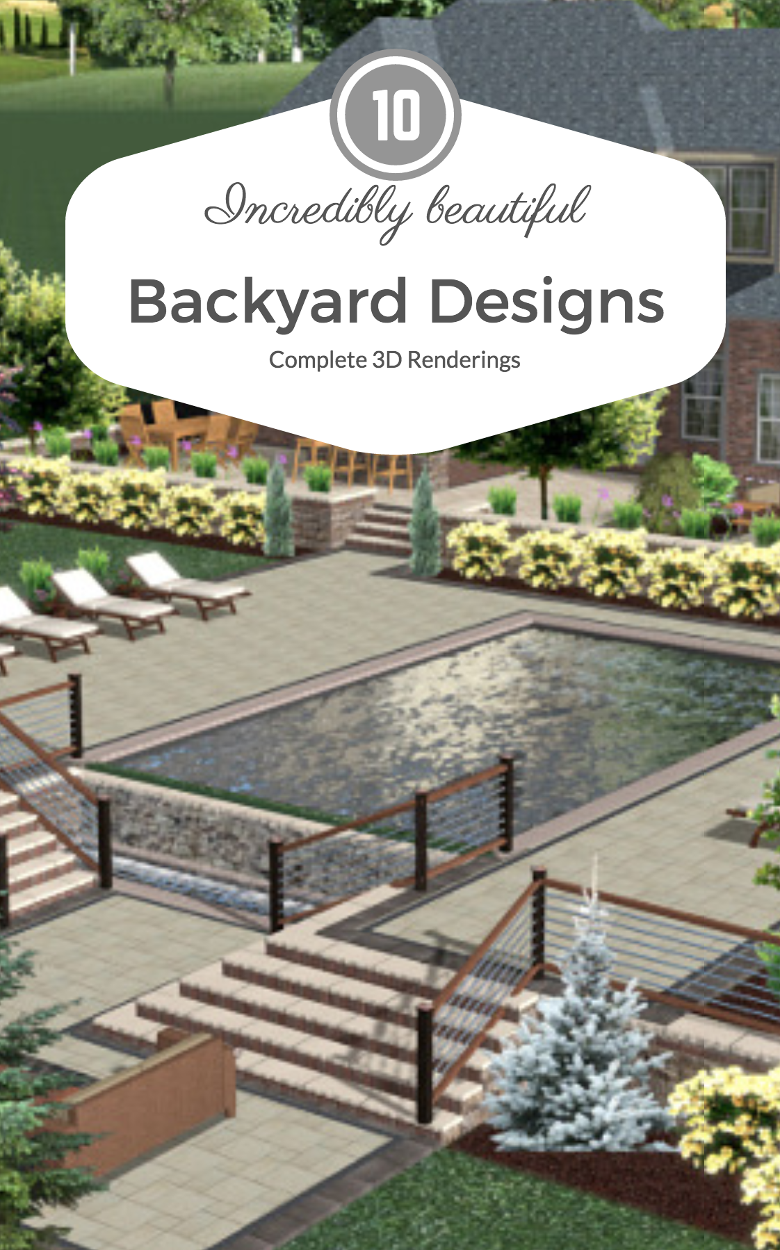 10 Incredibly Beautiful Backyard Designs in 3D in Long Island, NY