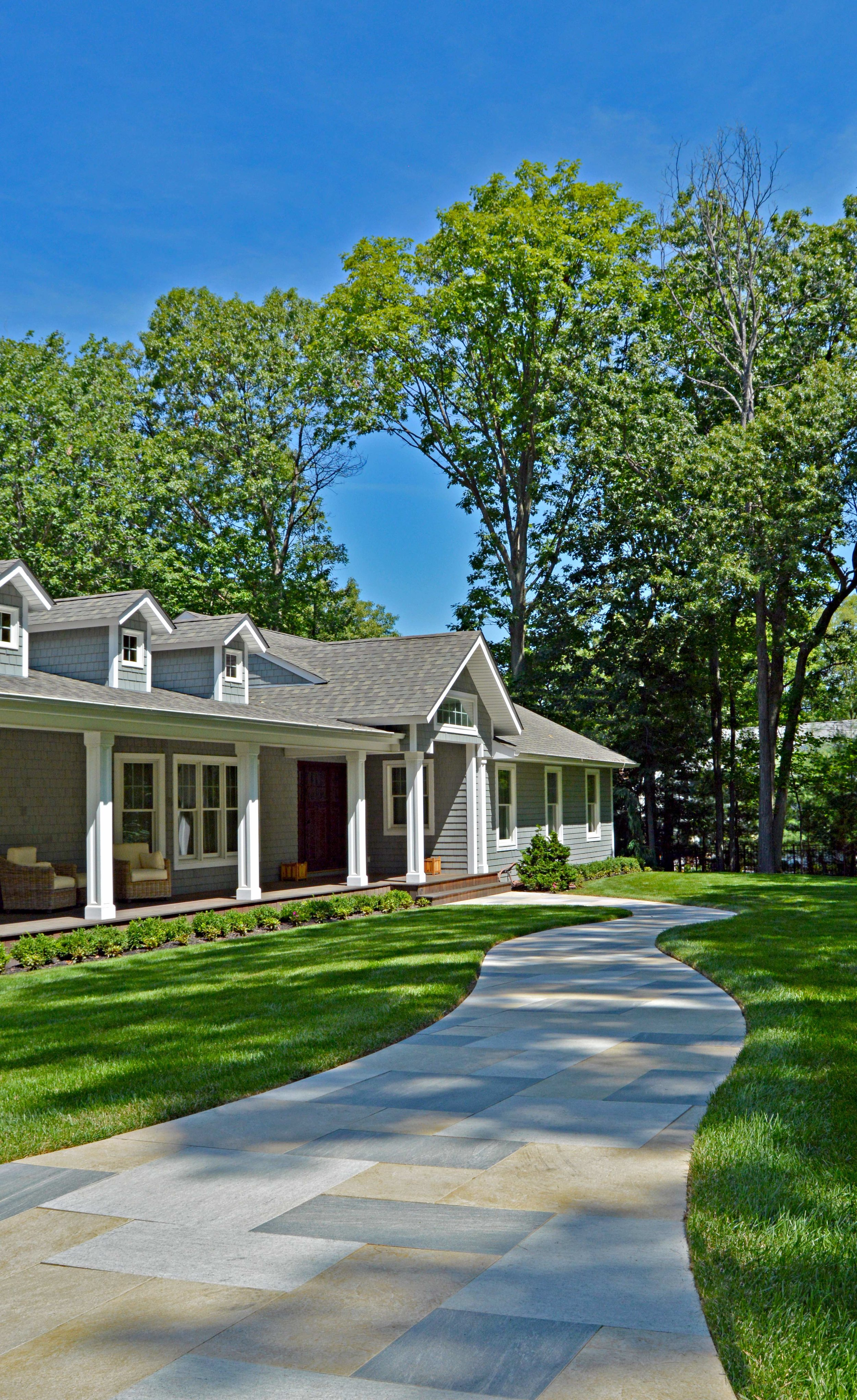 walkway and front entrance in Port Jefferson, NY