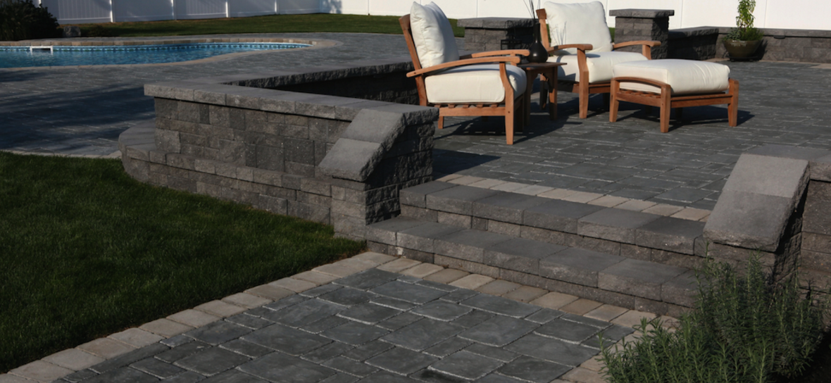 concrete paver patio in Smithtown, NY