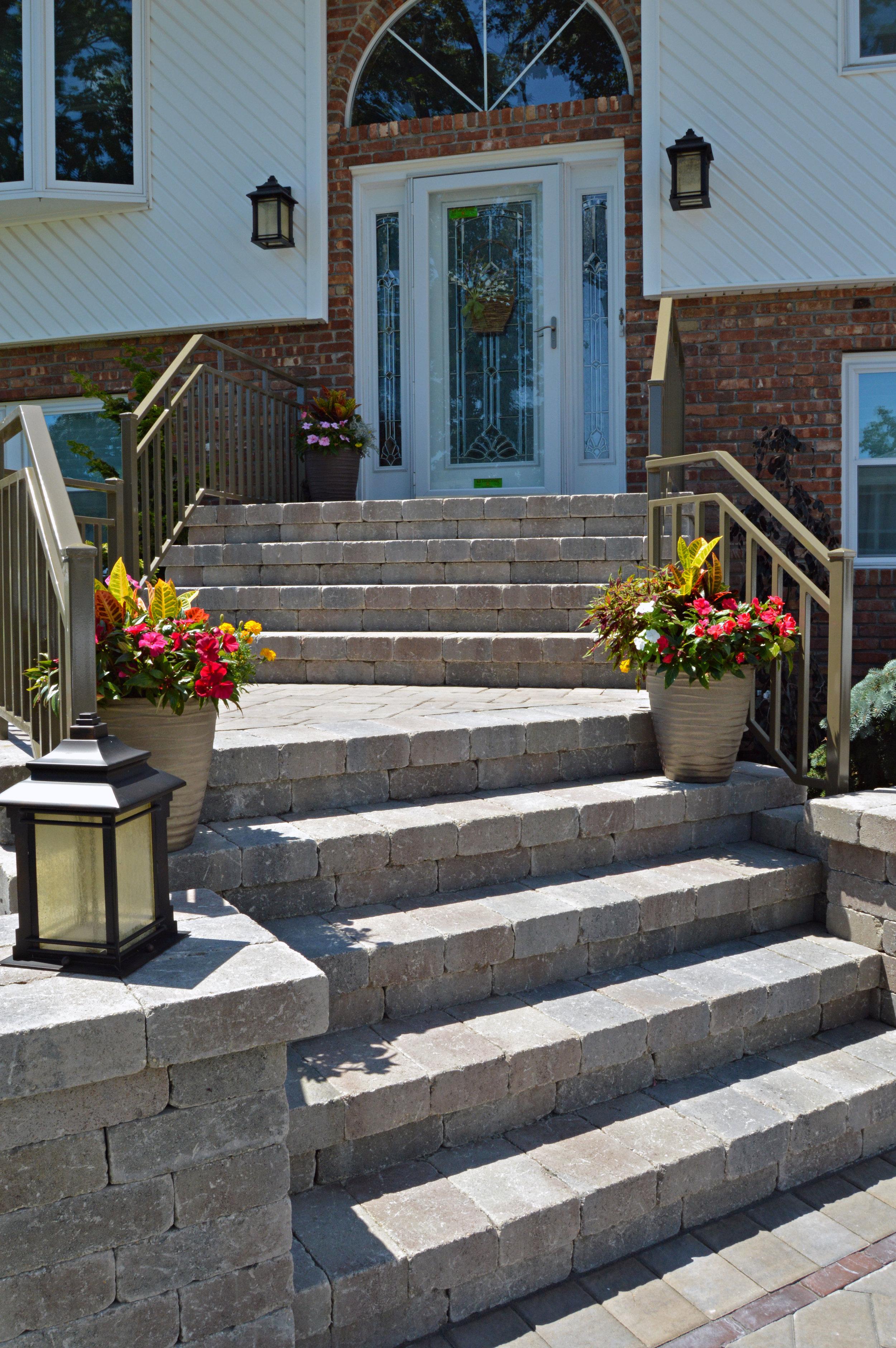 Natural stone steps on Long Island, NY