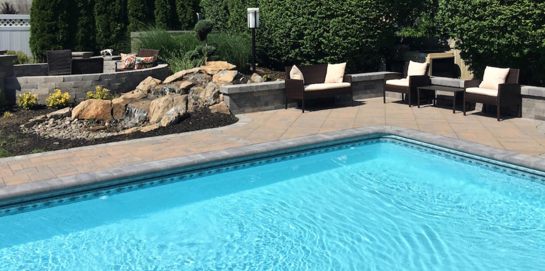 Holbrook, NY swimming pool patio