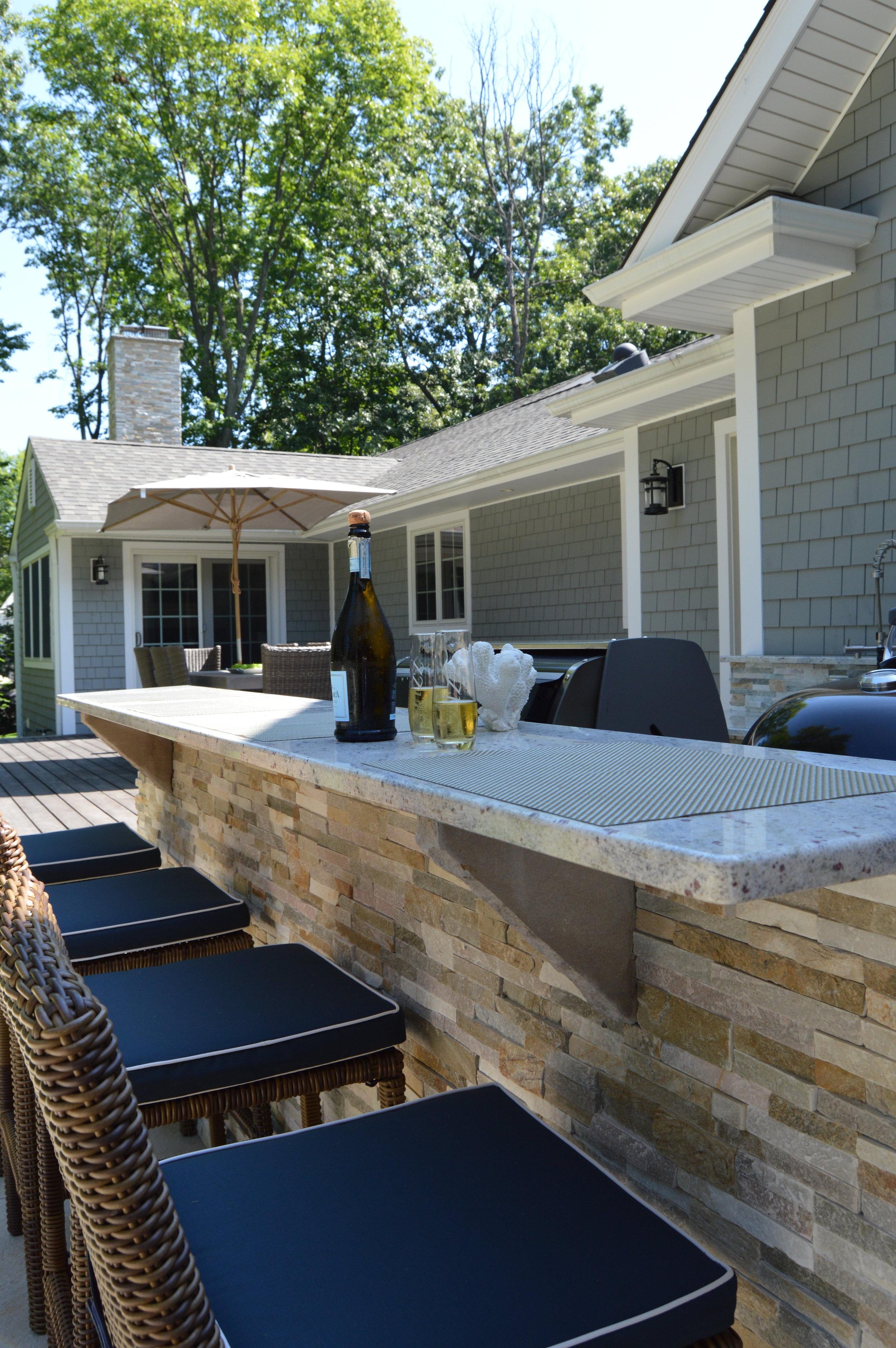 Port Jefferson, NY outdoor kitchen & bar