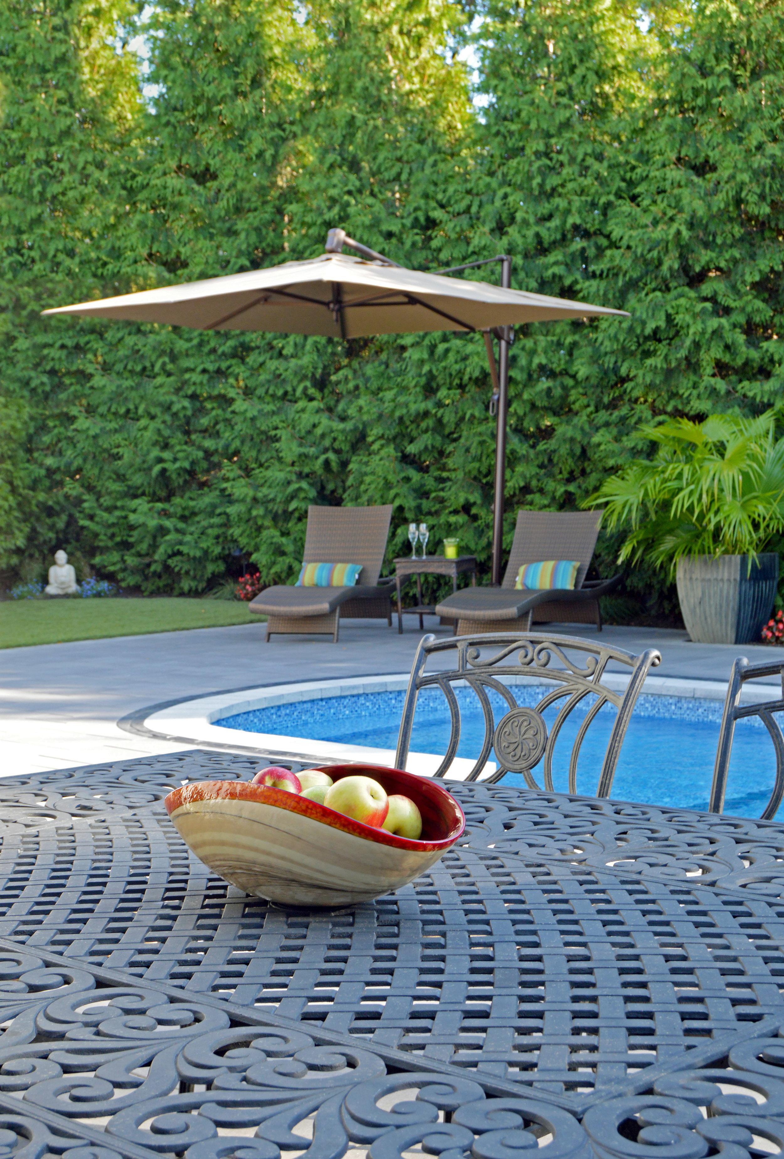 hicksville, NY outdoor dining area landscape design