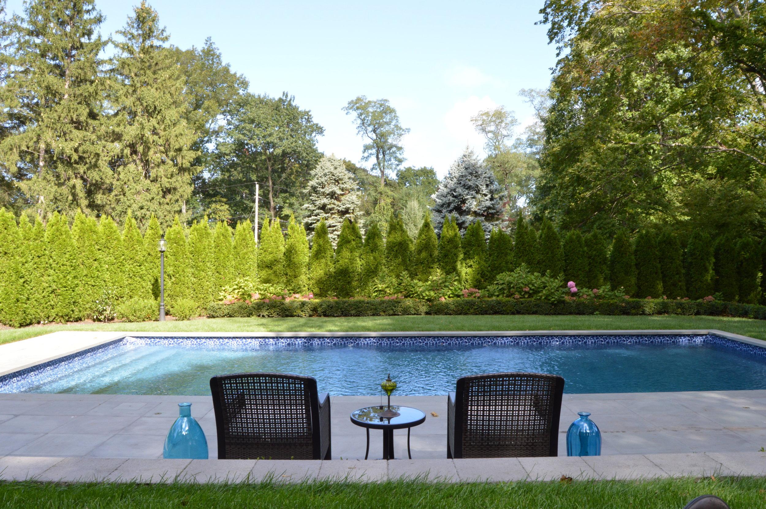 Northport, NY swimming pool patio