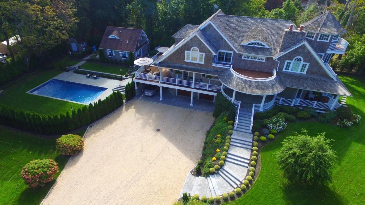 swimming pool landscape design hamptons inspired on Long Island, NY