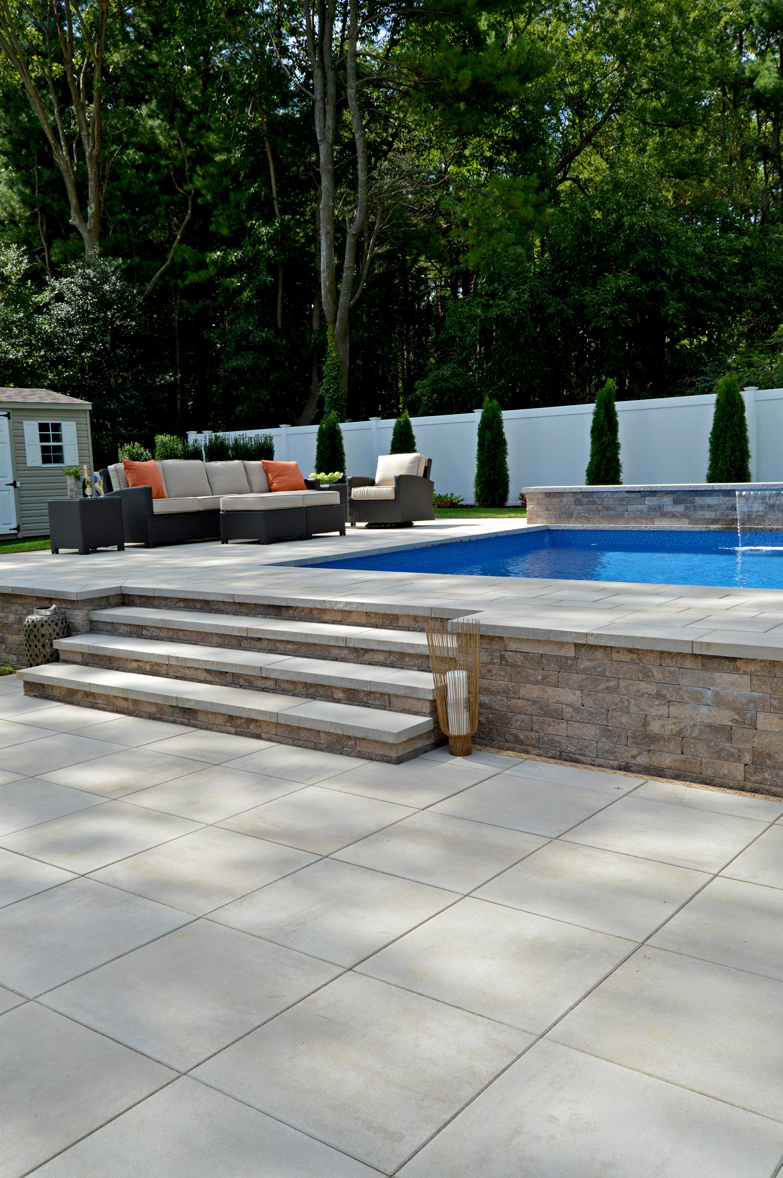Landscape pool design in Hauppauge, NY