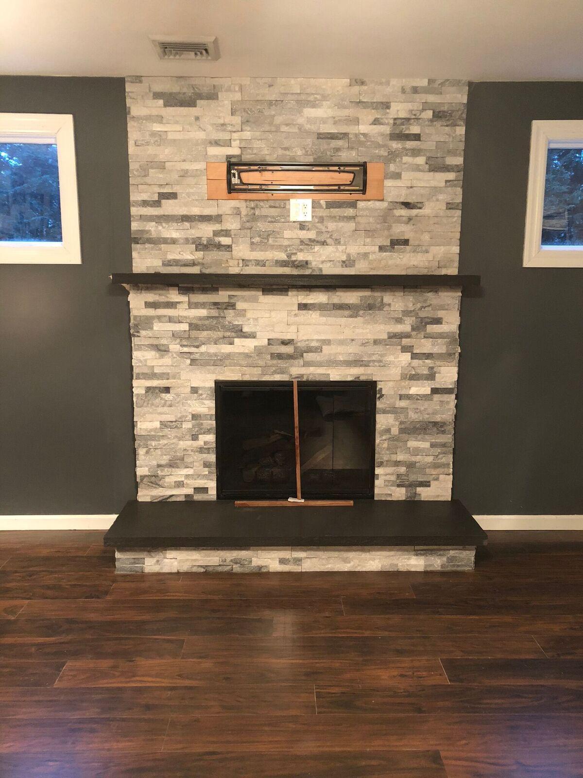 Indoor masonry fireplace on Long Island NY