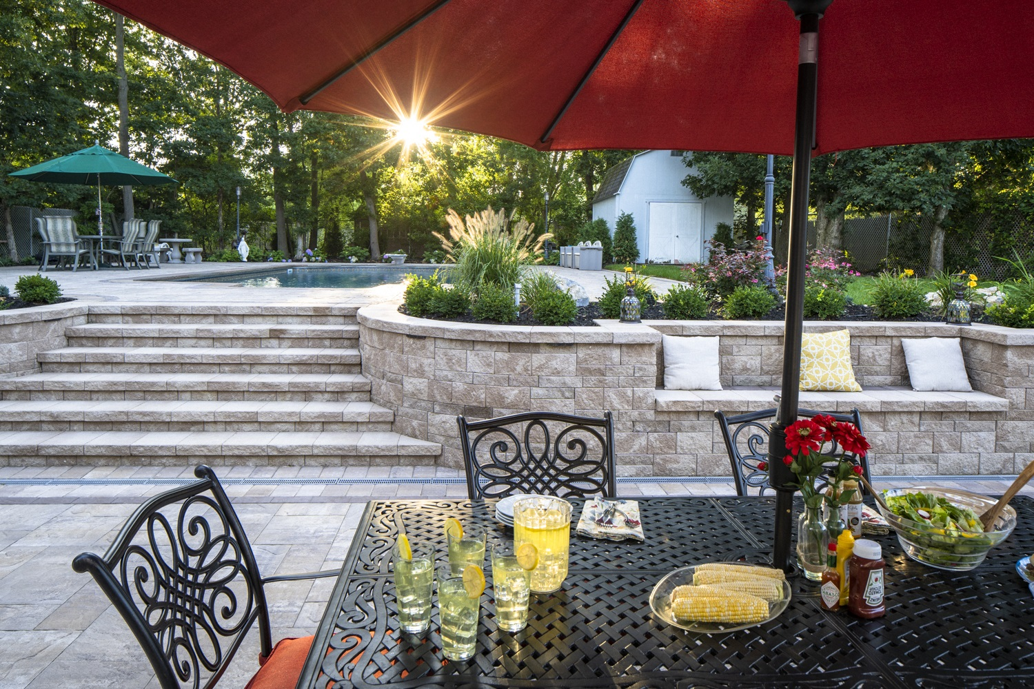 Long Island, NY top patios with outdoor fireplace