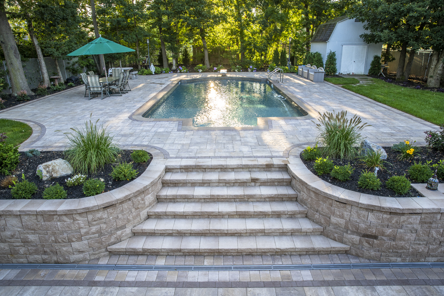 Beautiful swimming pool in Melville NY