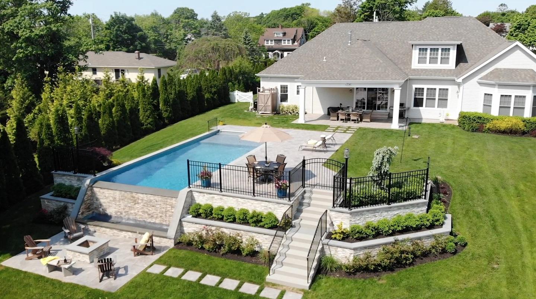 Image of: Backyard Landscape Design Landscape Architecture Smithtown Ny Huntington Station New York Above All Masonry