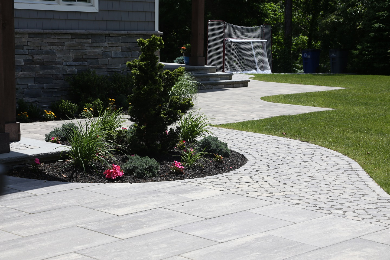 Front entrance - landscape design in Syosset NY