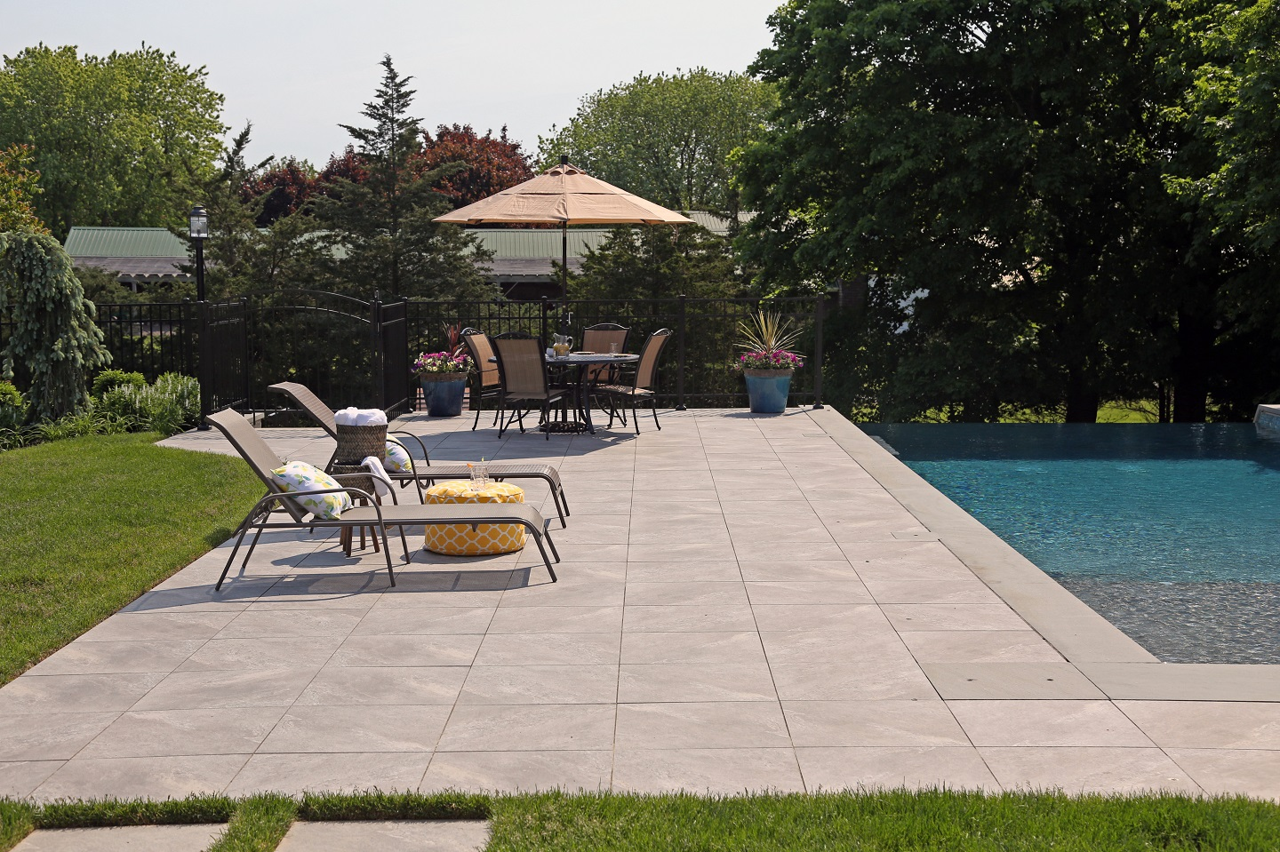 Landscape architecture with swimming pool in Long Island NY