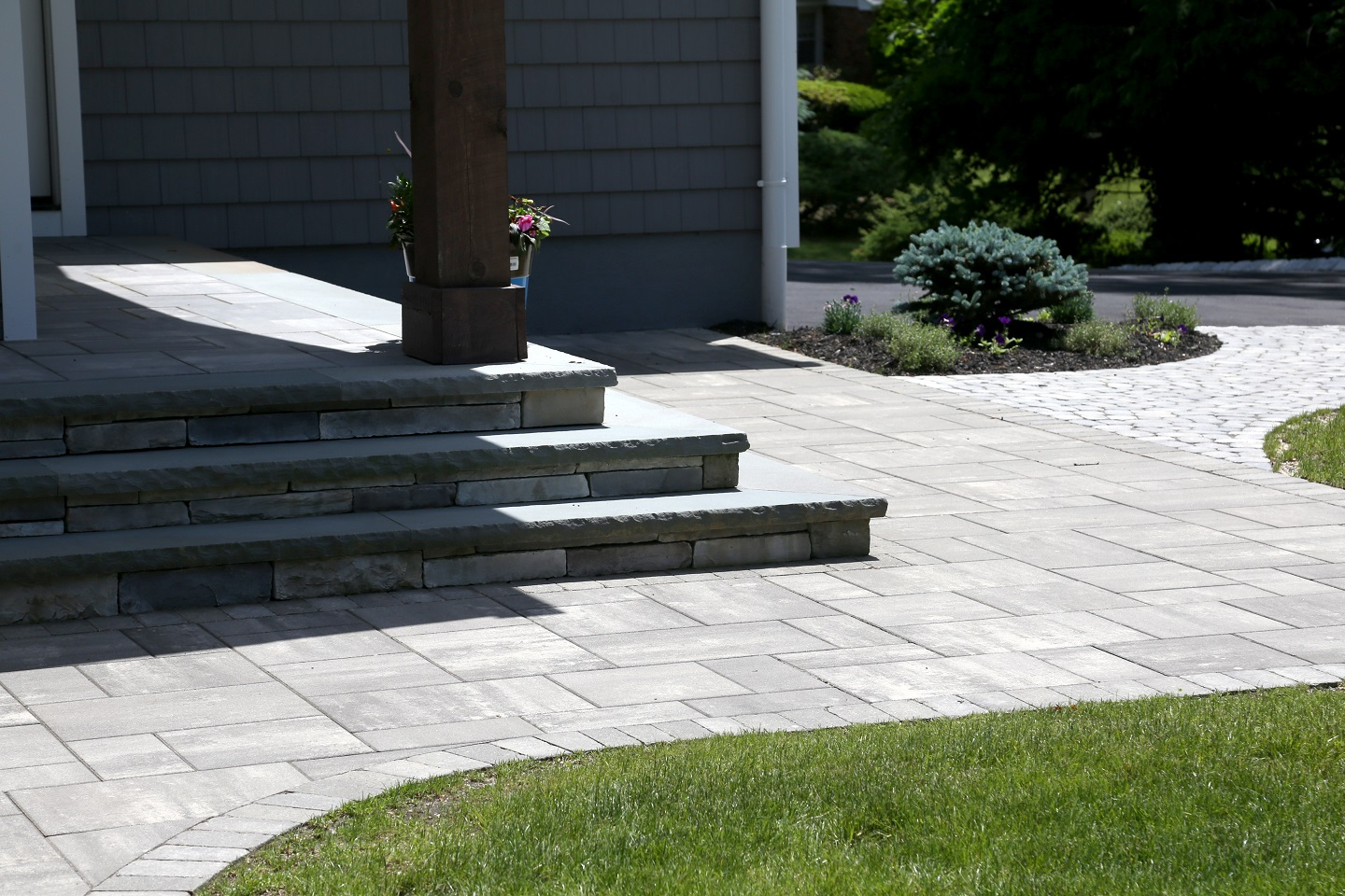 Backyard designs with patios in Commack NY