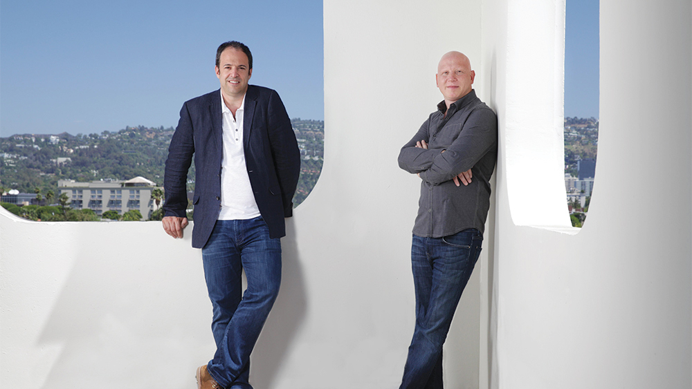 Simon Chinn, left, and Jonathan Chinn producers of LA 92.