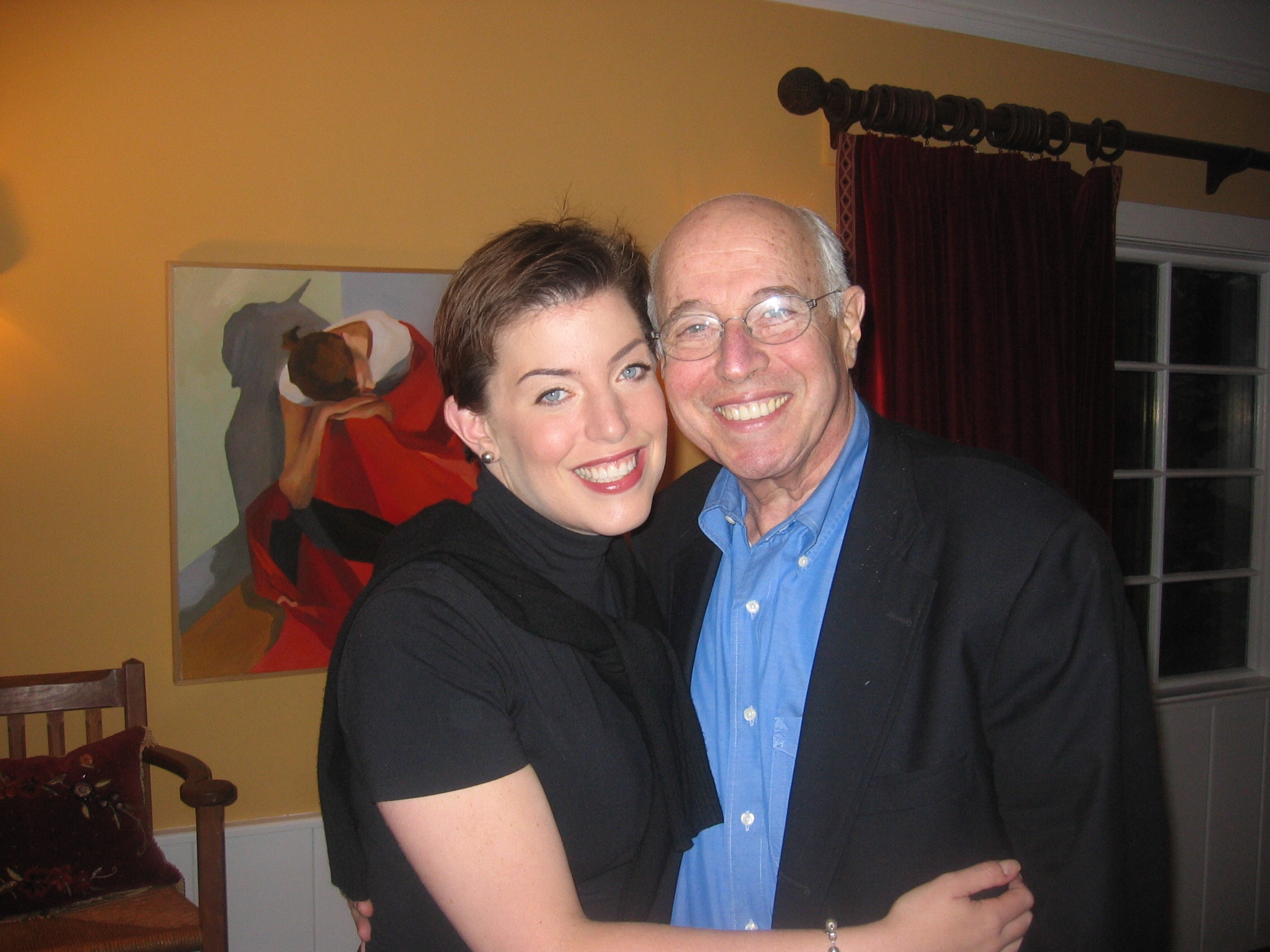 Elisabeth and her father, Dr. Aaron Rausen.