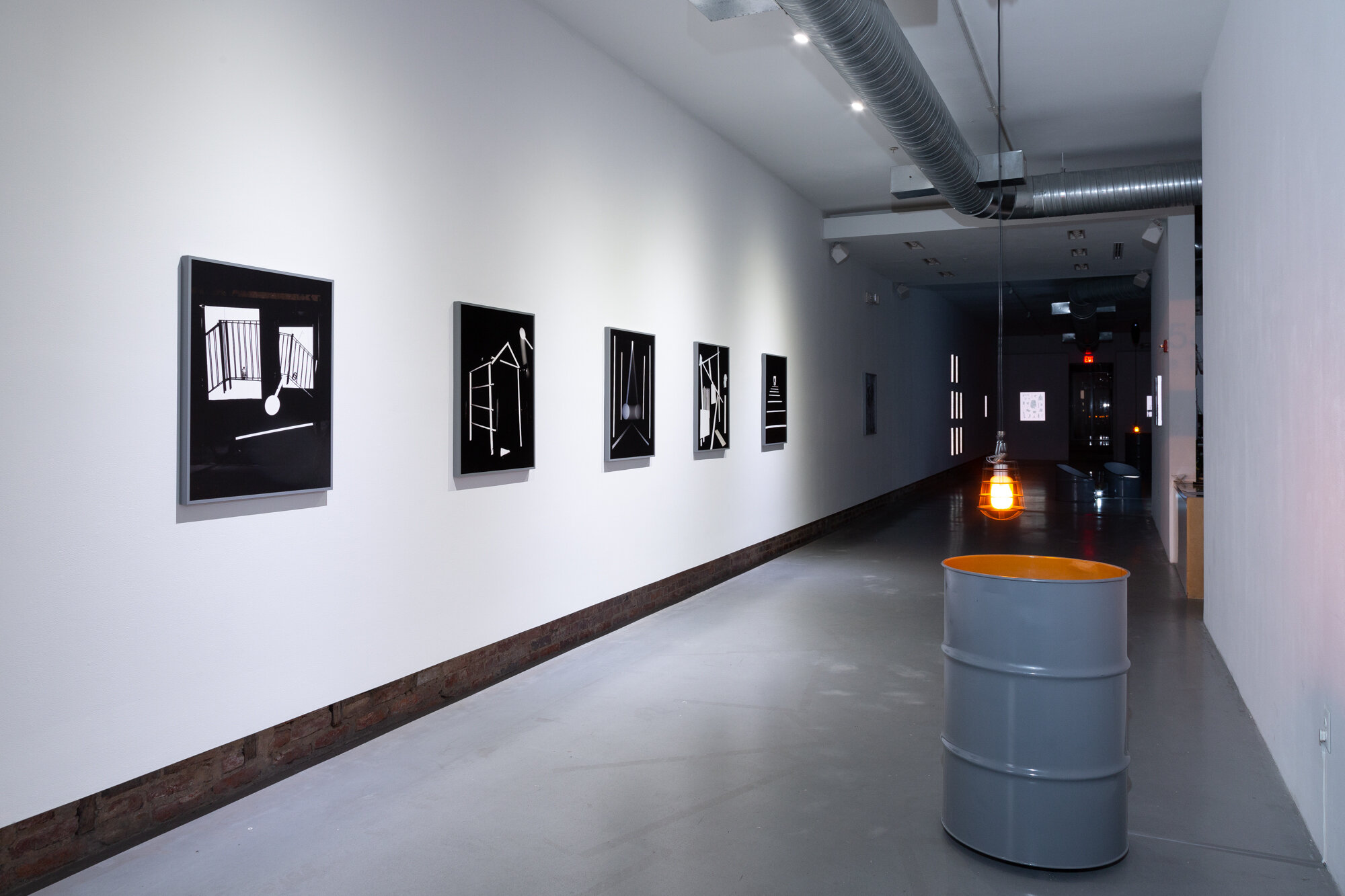 """Installation view with """"Solar Bondage (Sonic Twins)"""""""