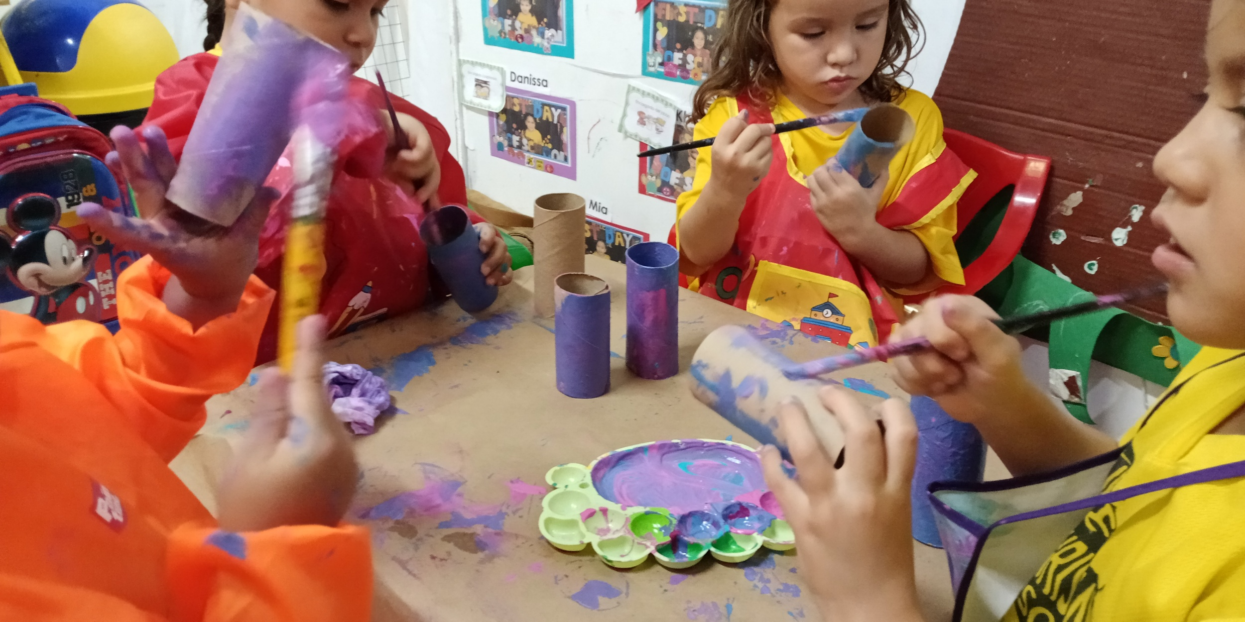 The joy of painting with preschoolers 😁