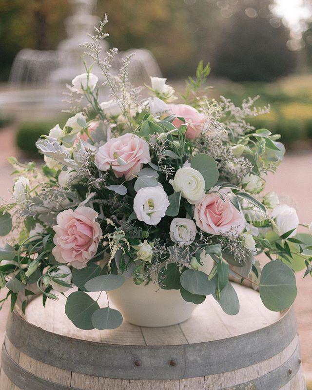 Ceremony florals at @keswickvineyards 🌸 Planning @laureleliseweddings Flowers @colonial_flowers @keswickweddings