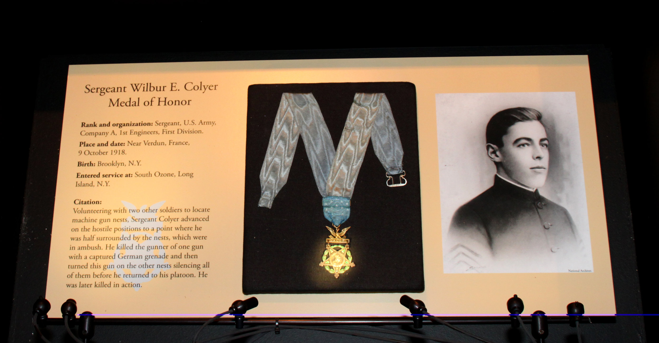 Medal of Honor, conserved and mounted for the First Division Museum at Cantigny, Wheaton, IL. Photo courtesy of First Division Museum at Cantigny.