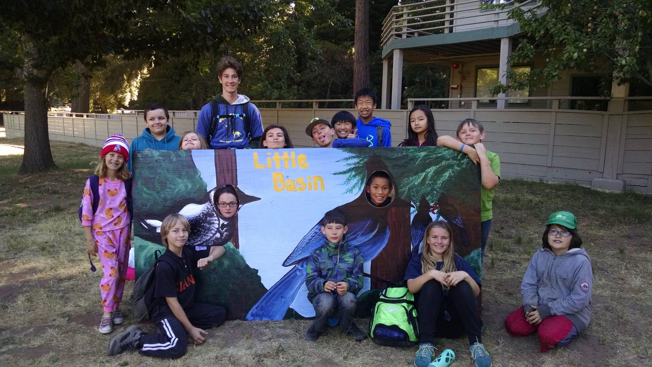 WOLF School Summer Nature Camp at Little Basin_Marbled Murrelet Mural.jpg