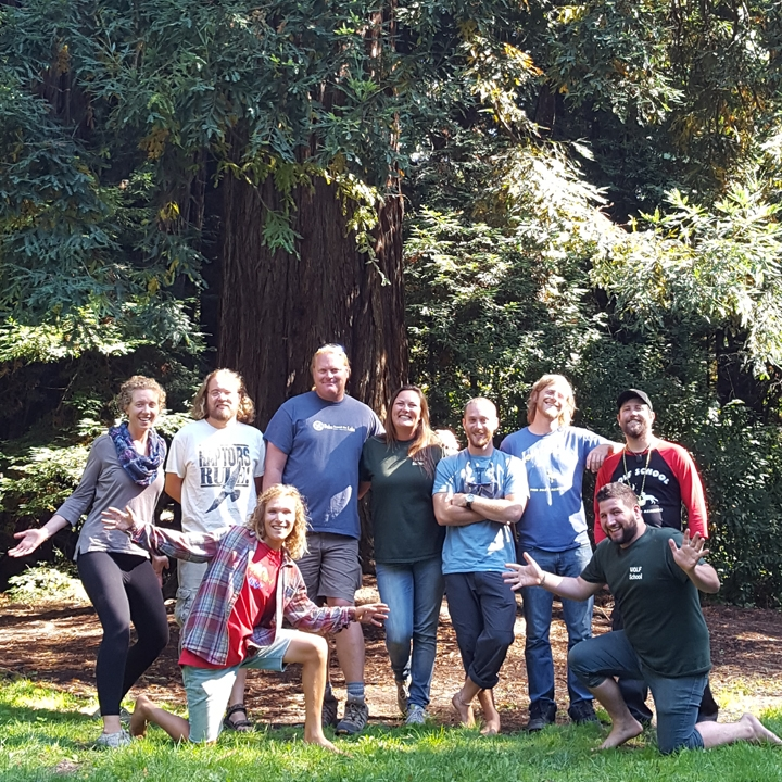 WOLF School naturalists take some time to play outdoors during Fall 2016 staff training.