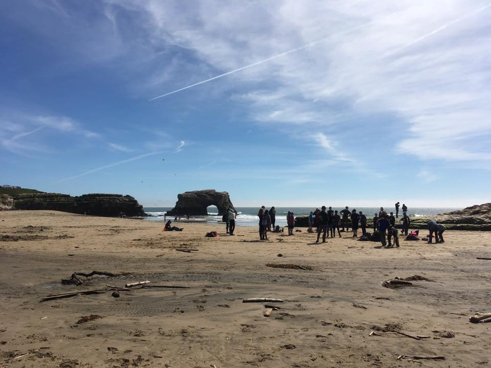 WOLF School students at Natural Bridges State Beach during Save Our Shores-sanctioned beach clean-up. All told, students removed 103.5 pounds of trash and recyclables in 2016.