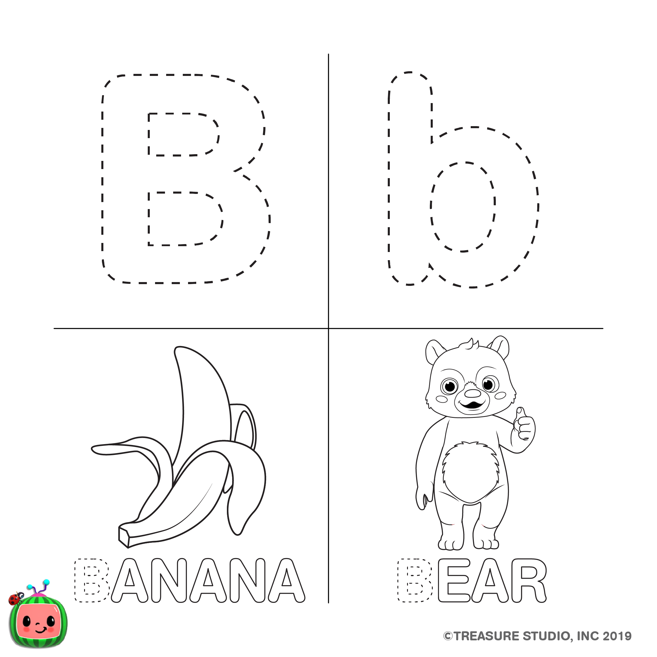 Abc Coloring Pages Cocomelon Com Here you can explore hq melon transparent illustrations, icons and clipart with filter setting like size, type, color etc. cocomelon