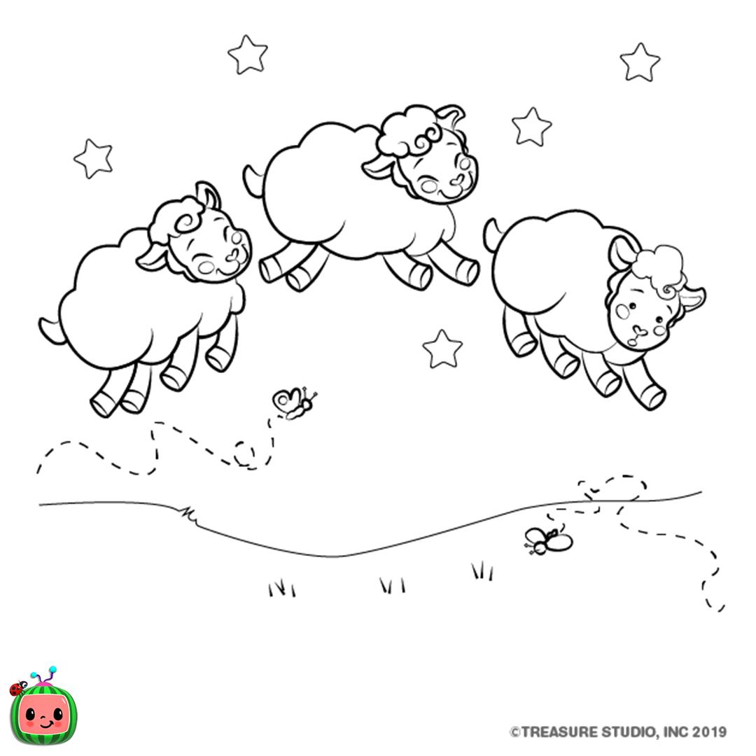 Three Sleepy Sheep -
