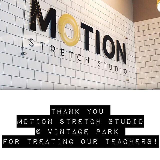 Thank you so much @motionvintagetx for coming out during Teacher Appreciation Week to work on our teachers! Our kids are the reasons they've got tight muscles and aching backs, and we loved having you and are happy to welcome you to the Klein Community! #brillpto #brillelementary #brillbroncos #kleinisd #vintageparktx #kleintx #motionstretchstudio @motionstretchstudio #ptotoday @ptotoday #teacherappreciationweek #momentsinklein #promise2purpose #ptopresident #ptolife