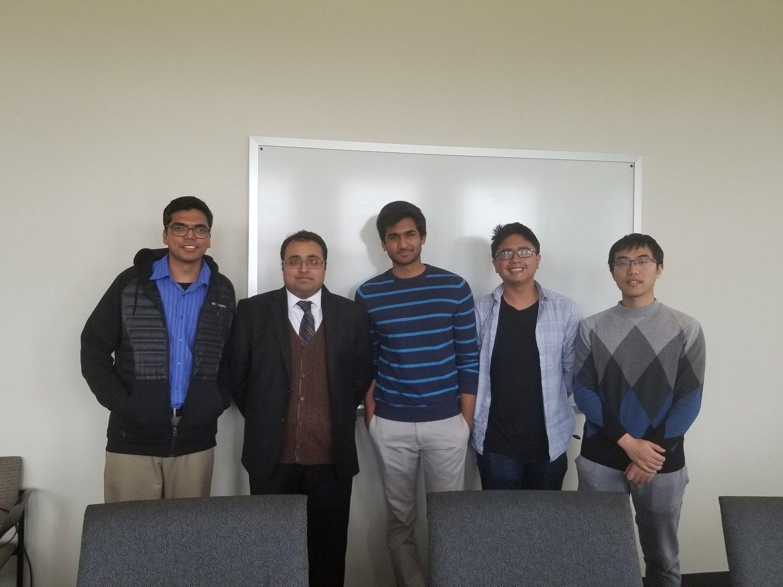 Suraj's Master's thesis defense