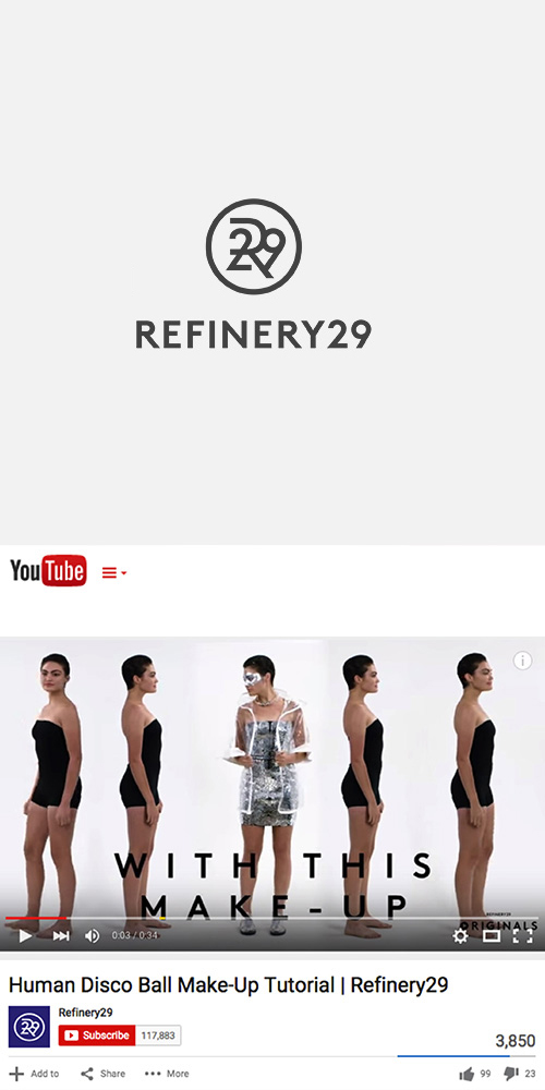REFINERY 29 - YOUTUBE CHANNEL - SEPTEMBER 2015
