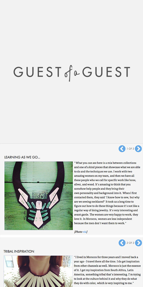 GUEST OF A GUEST - SEPTEMBER 2015