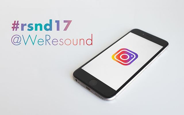 Friends attending Resound 2017! Share your experience with others. Tag your photos with #rsnd17.
