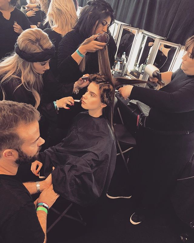 Do it with passion or not at all. 💋 #lfw #bts #london #fashionweek #hairstylist #lovewhatyoudo